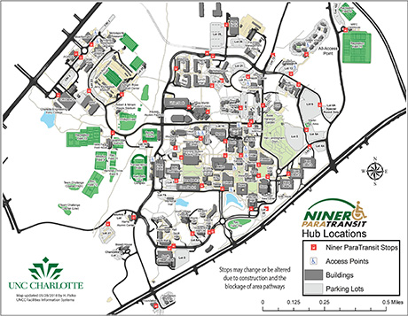 thumbnail of Niner Paratransit pick up locations