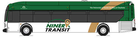 illustration of Niner Transit bus