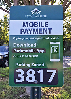 Mobile Payment parking sign