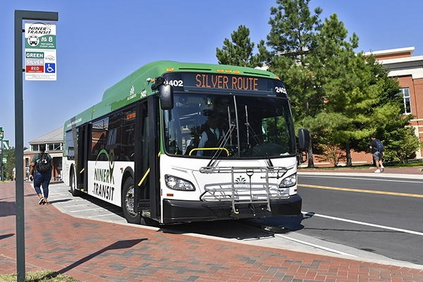 Photo of Niner Transit bus
